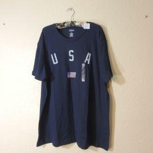 City Streets Woman Navy Blue T-Shirt USA FLAG XXL